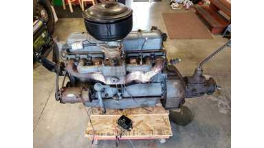 1936 Chevy engine and transmission