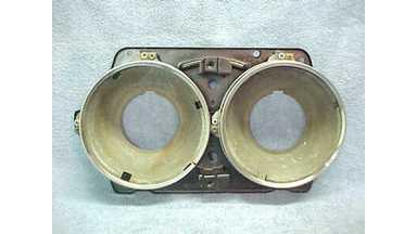 64 GTO Lemans Tempest Head Light Housing w/Buckets & Trim Rings - Nice