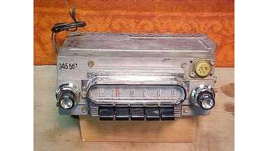 60 Ford Galaxie Fairlane AM Radio - Working Condition - 04MF