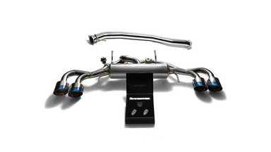 ARMYTRIX Stainless Steel Valvetronic Catback Exhaust 90mm System Quad Blue Coate