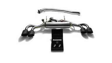 ARMYTRIX Stainless Steel Valvetronic Catback Exhaust 90mm System Quad Matte Blac