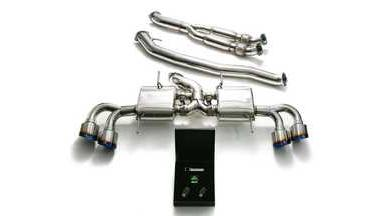 ARMYTRIX Stainless Steel Valvetronic Catback Exhaust 102mm System Quad Titanium